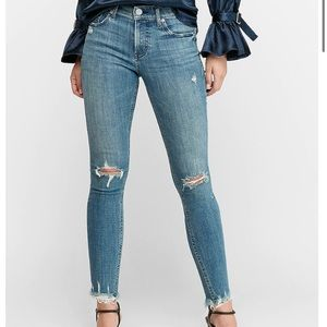 Express High Waisted Hyper Stretch Skinny Jeans